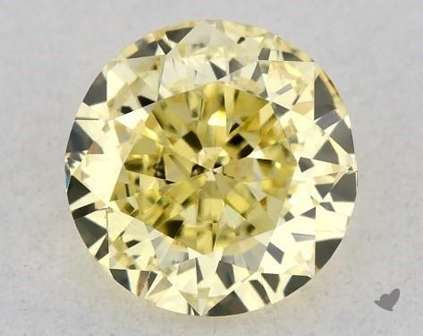 0.54 Carat FANCY INTENSE  YELLOW-SI1 Round Cut Diamond