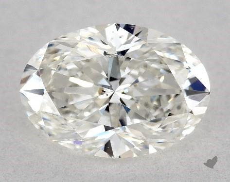 1.02 Carat F-SI1 Oval Cut Diamond