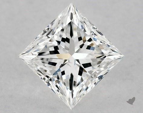 1.01 Carat E-SI1 Ideal Cut Princess Diamond