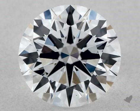 Lab-Created 1.01 Carat F-SI1 Ideal Cut Round Diamond
