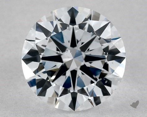 Lab-Created 1.01 Carat F-SI1 Excellent Cut Round Diamond