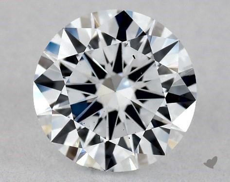 Lab-Created 1.01 Carat F-SI1 Excellent Cut Round Diamond