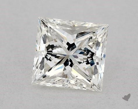 1.04 Carat H-SI1 Ideal Cut Princess Diamond