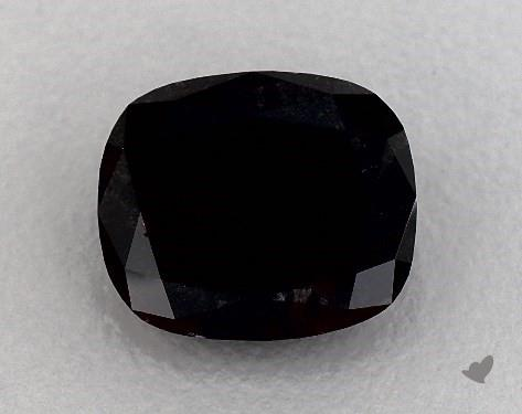 6.60 Carat FANCY  Black Cushion Modified Cut Diamond