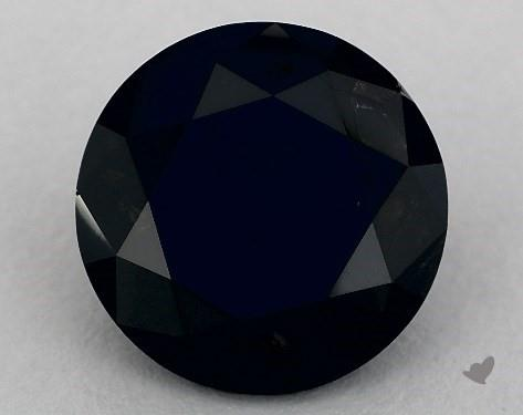 6.93 Carat FANCY  Black Round Cut Diamond