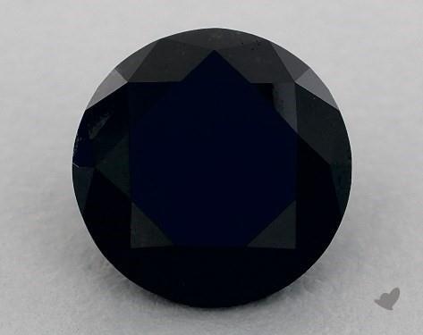 3.50 Carat FANCY  Black Round Cut Diamond