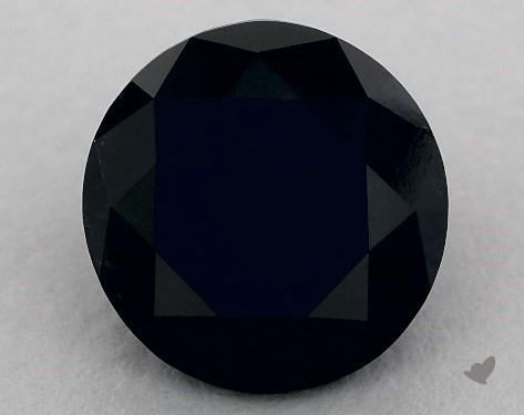 3.26 Carat FANCY  Black Round Cut Diamond
