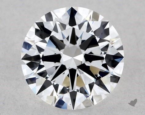 Lab-Created 1.01 Carat G-VS2 Excellent Cut Round Diamond