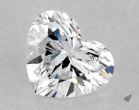 0.53 Carat E-SI2 Heart Shape Diamond