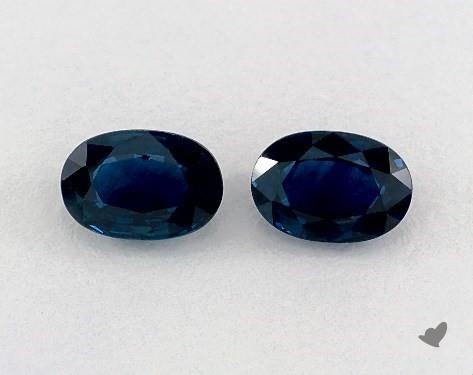 1.28 Total Carat Weight Oval Natural Blue Sapphires