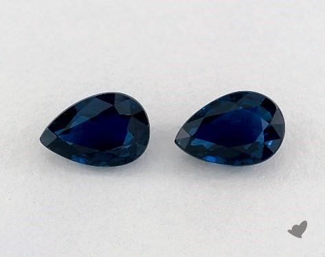 1.22 Total Carat Weight Pear Natural Blue Sapphires