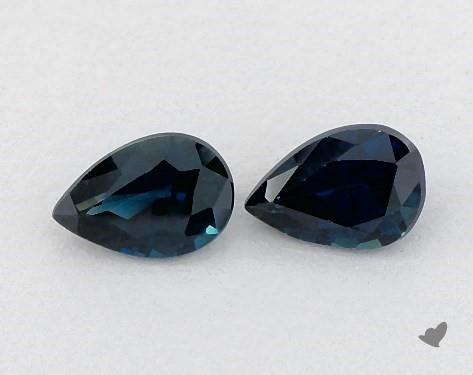 1.10 Total Carat Weight Pear Natural Blue Sapphires