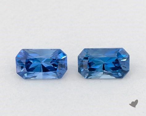 <b>0.72</b> Total Carat Weight Radiant Natural Blue Sapphires
