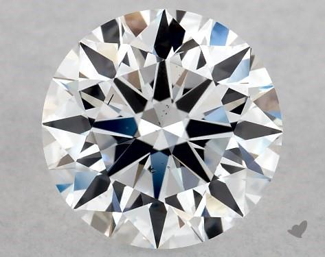 Lab-Created 1.05 Carat F-SI1 Ideal Cut Round Diamond