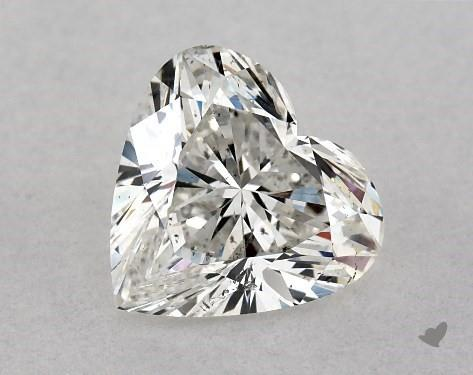 1.00 Carat H-SI1 Heart Shape Diamond
