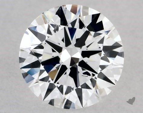 Lab-Created 0.50 Carat E-SI1 Excellent Cut Round Diamond