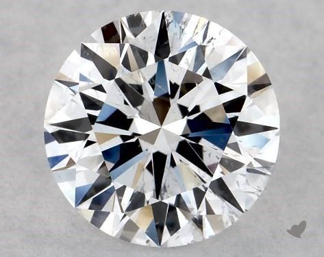 Lab-Created 0.54 Carat F-SI2 Excellent Cut Round Diamond