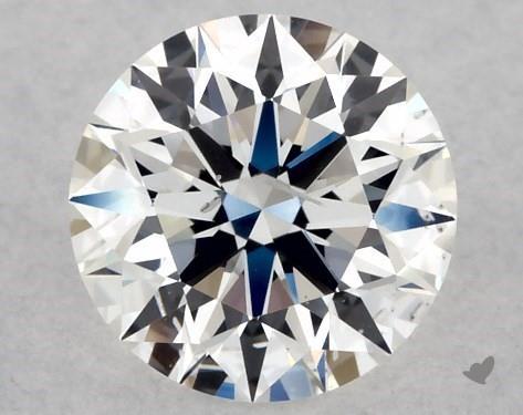 Lab-Created 0.56 Carat F-SI2 Ideal Cut Round Diamond