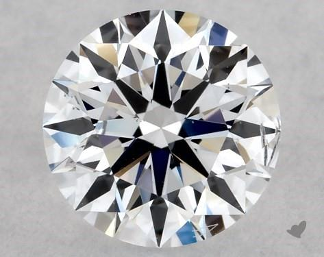 Lab-Created 0.54 Carat F-SI2 Ideal Cut Round Diamond