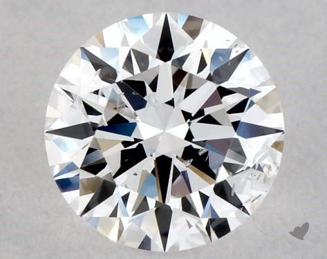 Lab-Created 0.54 Carat E-SI2 Ideal Cut Round Diamond