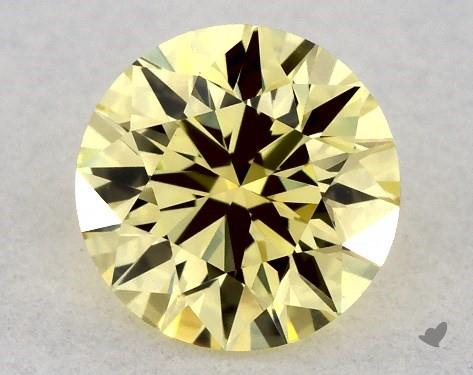0.36 Carat FANCY  YELLOW-VVS2 Round Cut Diamond