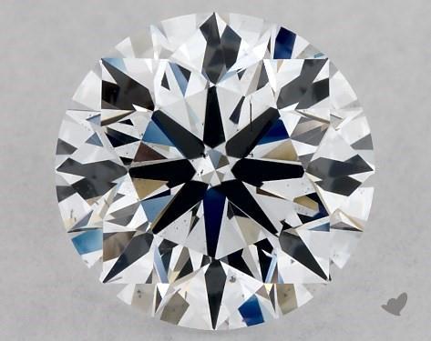 Lab-Created 1.01 Carat F-SI1 Ideal Cut Round Diamond