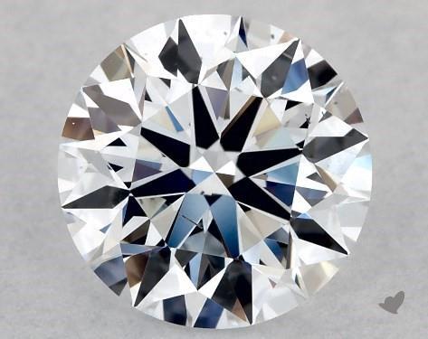Lab-Created 1.00 Carat F-SI1 Ideal Cut Round Diamond