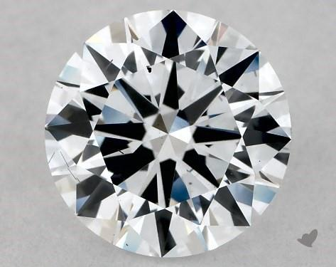 Lab-Created 1.04 Carat F-SI1 Excellent Cut Round Diamond