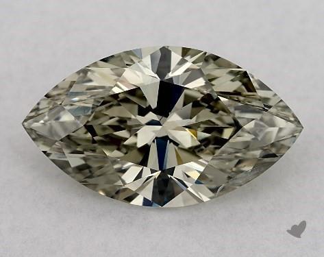 2.01 Carat FANCY DARK GREENISH GRAY-I1 Marquise Cut Diamond