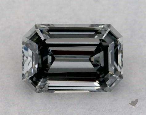 0.28 Carat FANCY BLUE GRAY-VS1 Emerald Cut Diamond