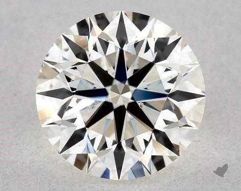 1.02 Carat H-SI1 Excellent Cut Round Diamond
