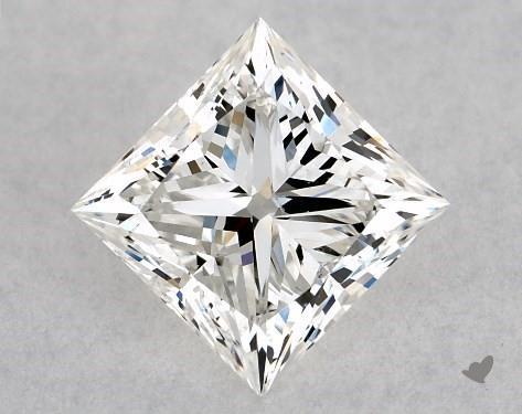1.00 Carat G-SI1 Ideal Cut Princess Diamond