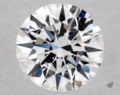 Lab-Created 0.52 Carat E-SI2 Ideal Cut Round Diamond