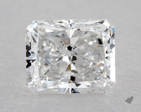 1.00 Carat D-SI1 Radiant Cut Diamond