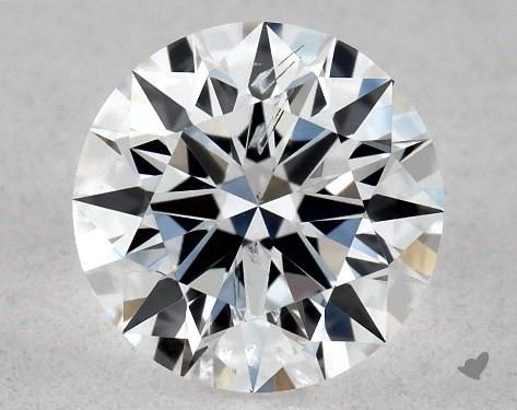 Lab-Created 0.54 Carat E-SI2 Ideal Cut Round Diamond