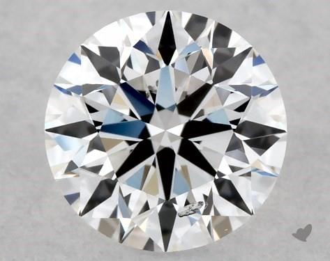 Lab-Created 0.50 Carat E-SI1 Ideal Cut Round Diamond