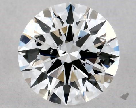 Lab-Created 0.52 Carat E-SI2 Ideal Cut Round Diamond