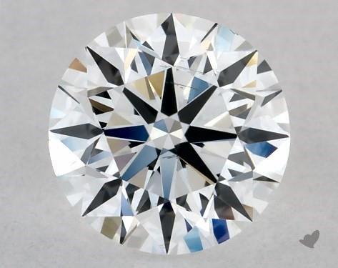 Lab-Created 0.54 Carat F-SI1 Ideal Cut Round Diamond
