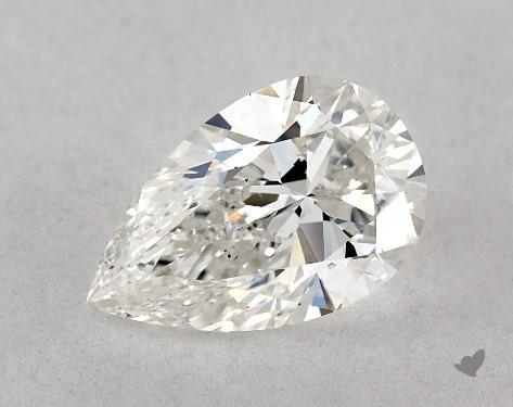 1.00 Carat G-SI1 Pear Shape Diamond