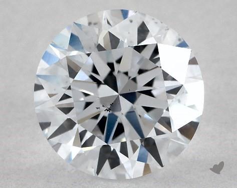 Lab-Created 1.01 Carat G-SI1 Ideal Cut Round Diamond