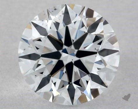 Lab-Created 0.51 Carat F-SI1 Ideal Cut Round Diamond