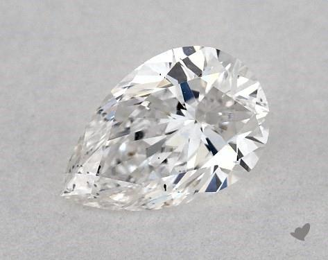 0.40 Carat E-SI1 Pear Shape Diamond