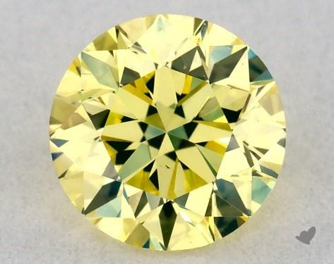 0.30 Carat FANCY  YELLOW-VS2 Round Cut Diamond