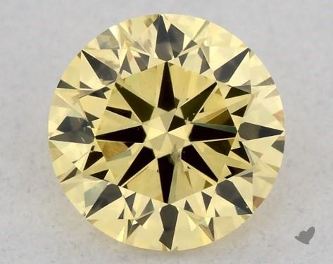 0.31 Carat FANCY INTENSE  YELLOW-SI2 Round Cut Diamond