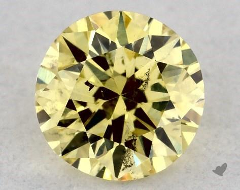 0.30 Carat FANCY  YELLOW-SI2 Round Cut Diamond