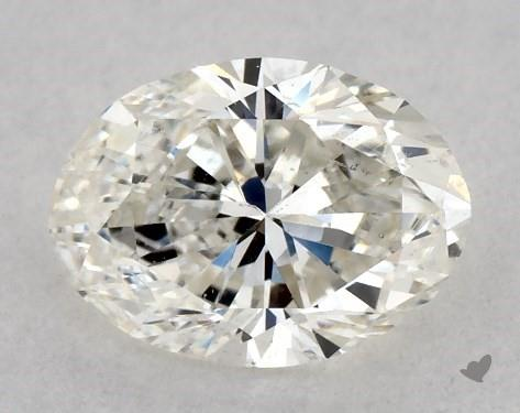 0.50 Carat J-SI1 Oval Cut Diamond