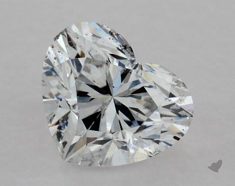 0.80 Carat F-SI2 Heart Shape Diamond
