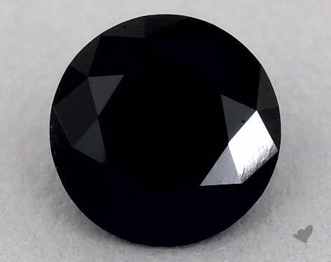 1.09 Carat FANCY  Black Round Cut Diamond