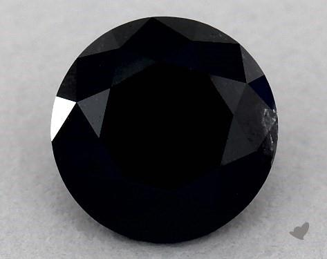 1.63 Carat FANCY  Black-VS1 Round Cut Diamond