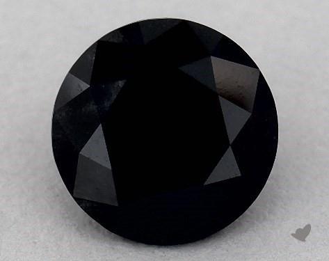 1.99 Carat FANCY  Black-VS1 Round Cut Diamond